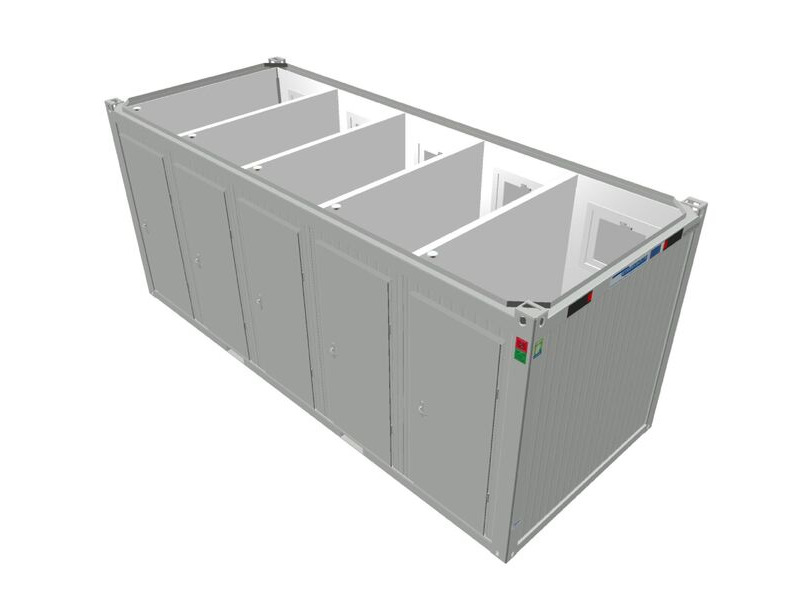 TOILET CABINS 20ft toilet cabin with 5 cubicles CTX205 click to zoom image