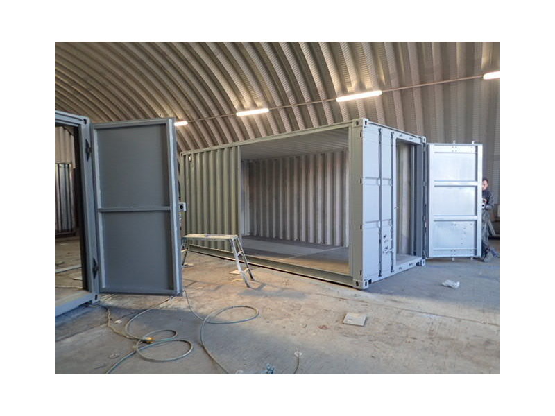 Shipping Container Conversions 2 x 18ft side joined click to zoom image