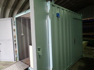 Shipping Container Conversions 10ft Ticket booth