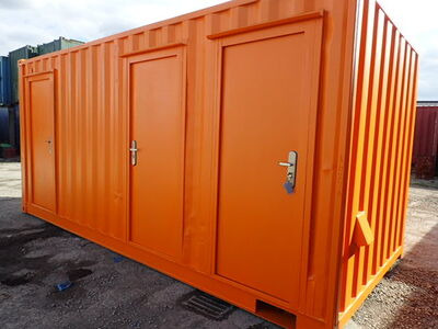 Shipping Container Conversions 18ft ply lined office and store