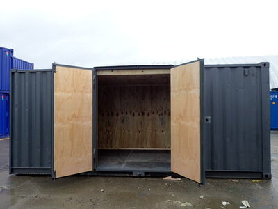 Shipping Container Conversions 15ft + 2 x 20ft side doors, ply lined
