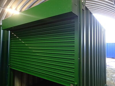 Shipping Container Conversions 10ft roller shutter door