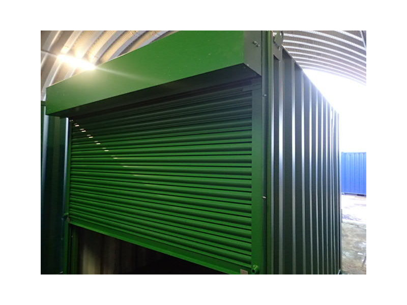 Shipping Container Conversions 10ft roller shutter door click to zoom image