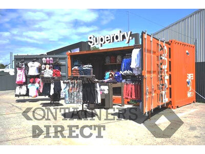 Shipping Container Conversions 20ft Full Side Access - Superdry Pop-up Shop