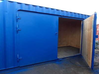 Shipping Container Conversions 20ft extra wide side doors and ramp
