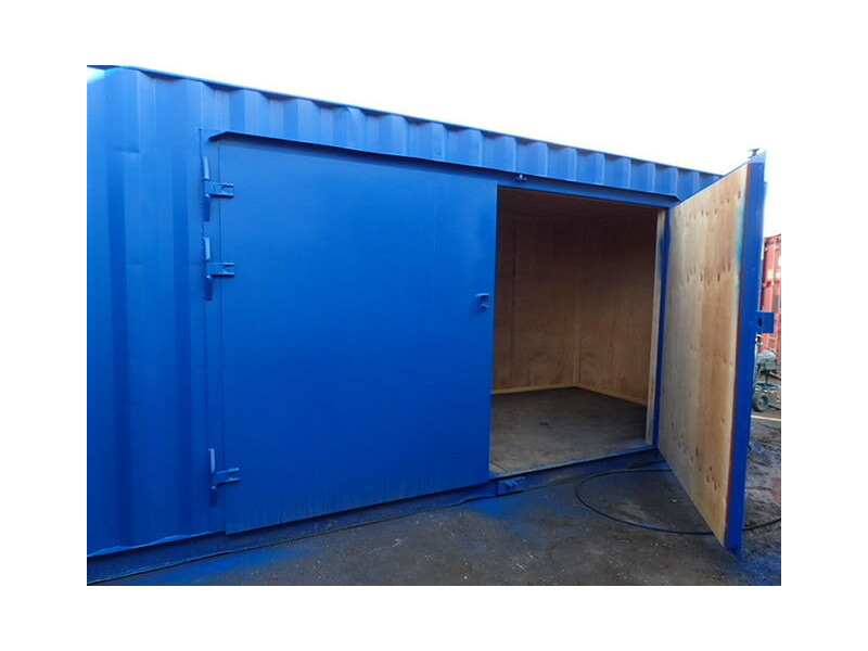 Shipping Container Conversions 20ft extra wide side doors and ramp click to zoom image