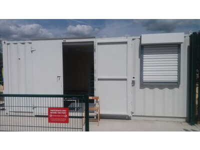 Shipping Container Conversions 20ft with office partition and roller shutter