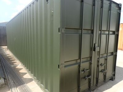 Shipping Container Conversions 30ft tunnel, ply lined