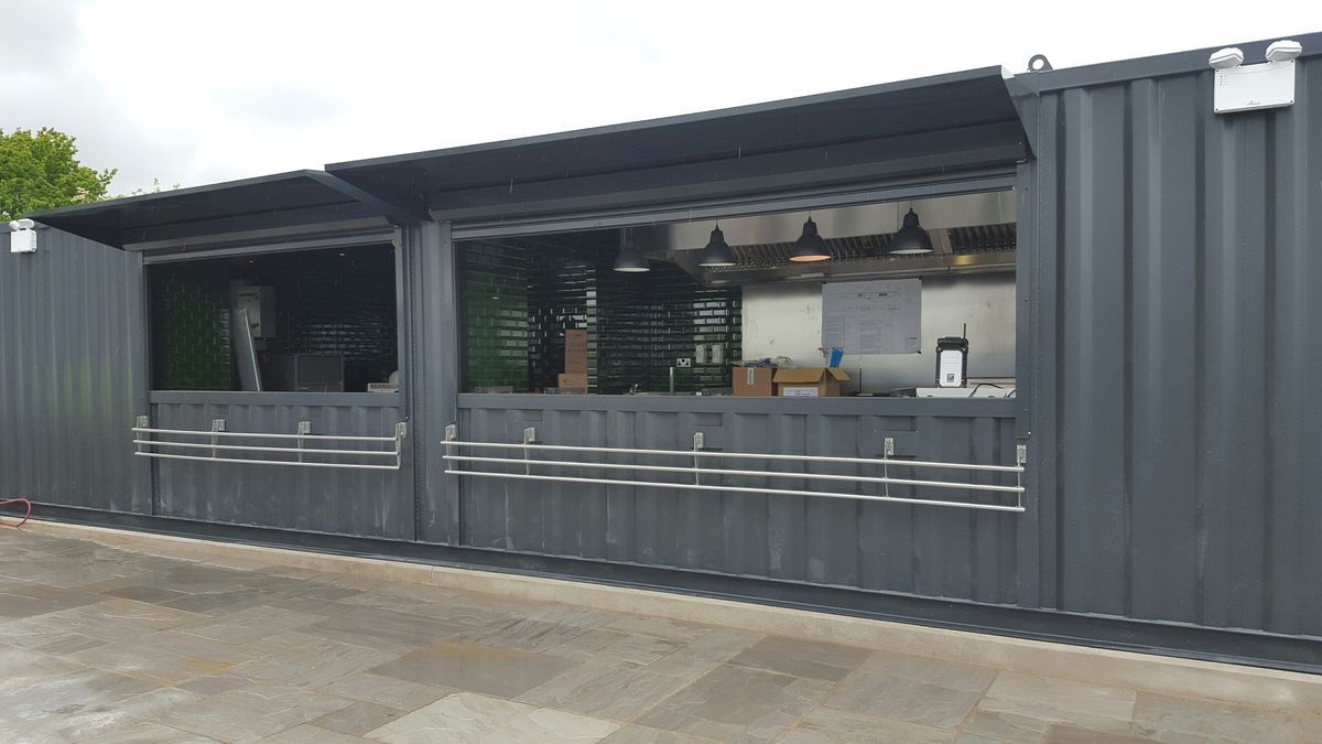 CONTAINER CONVERSION CASE STUDIES 40ft X 10ft Kitchen And Bar Conversion  CS30951
