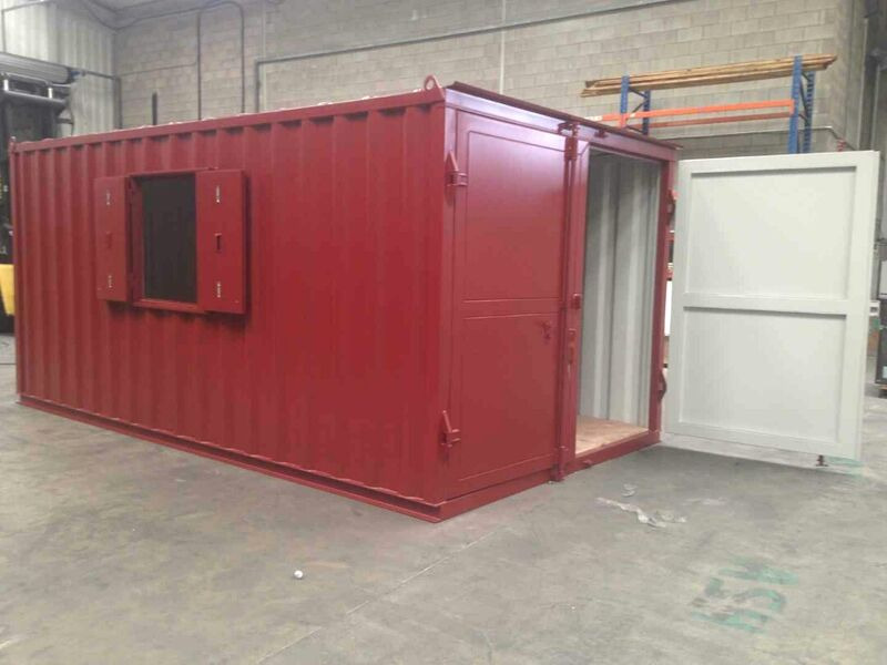 Container Conversions 17ft x 10ft x 8ft 6in with window click to zoom image