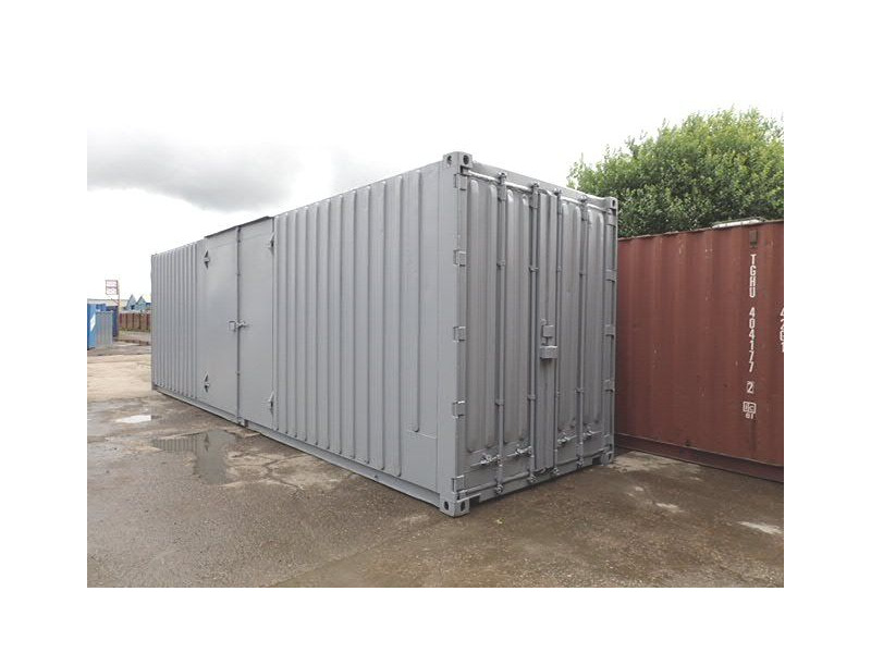 Shipping Container Conversions 30ft high cube, pallet wide with ramp click to zoom image