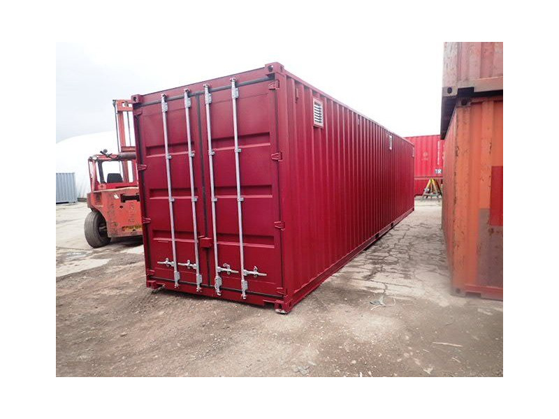 "Shipping Container Conversions 40ft high cube with ""lid"" click to zoom image"