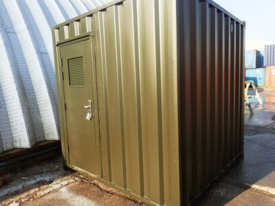 Shipping Container Conversions 8ft biomass energy unit
