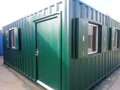 Shipping Container Conversions 2 x 20ft side joined clubhouse