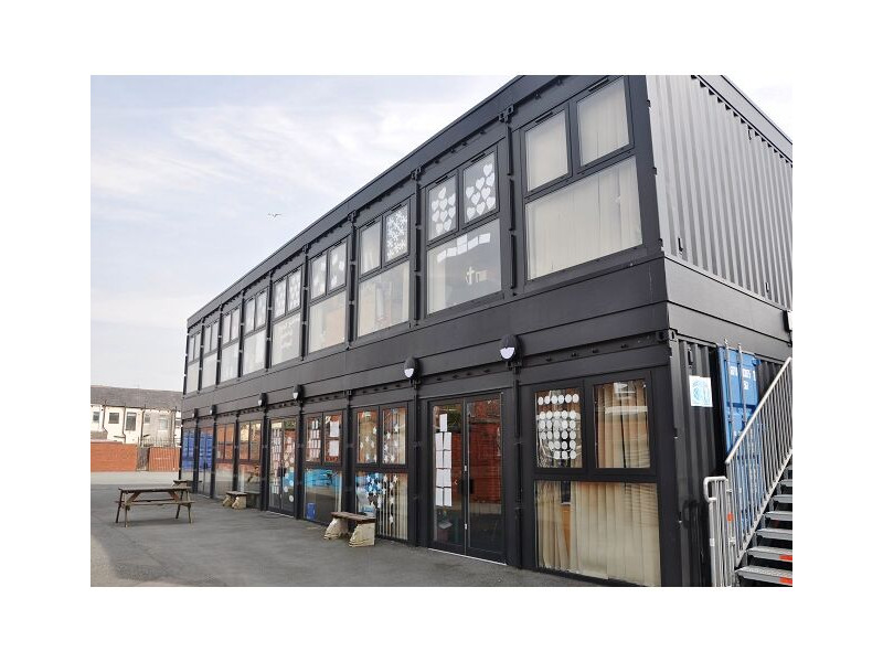 Shipping Container Conversions School classroom block click to zoom image