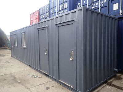 Shipping Container Conversions 30ft office with canteen and toilets