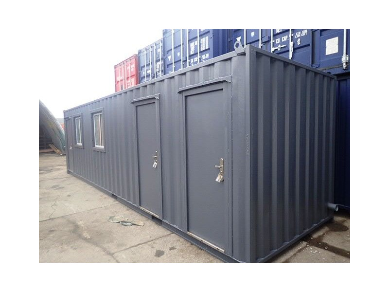 Shipping Container Conversions 30ft office with canteen and toilets click to zoom image