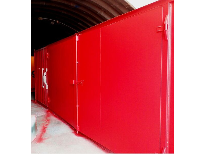 Shipping Container Conversions 30ft with 16ft wide side doors click to zoom image