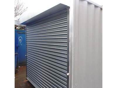 Shipping Container Conversions 16ft store with roller shutter