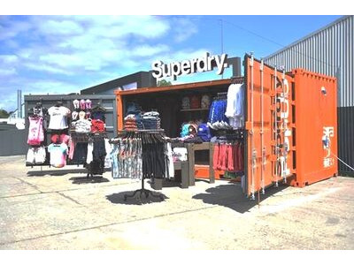 Shipping Container Conversions 20ft full side access pop up shop
