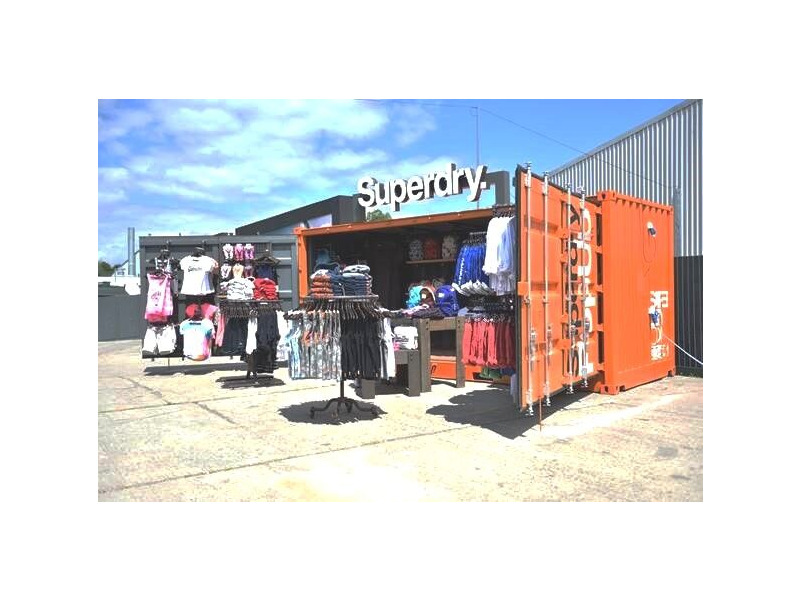 Shipping Container Conversions 20ft full side access pop up shop click to zoom image