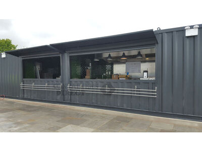 Shipping Container Conversions 40ft x 10ft kitchen and bar conversion