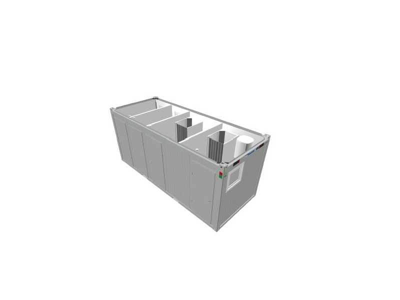TOILET CABINS 20ft CTX 2 x 2 toilet and shower cubicle click to zoom image