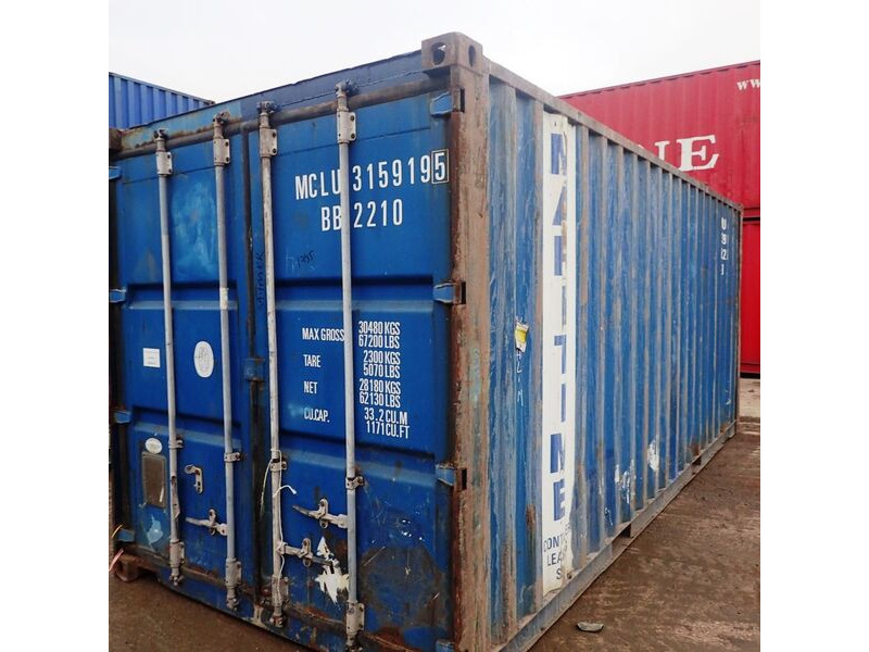 SHIPPING CONTAINERS 20ft ISO 44890 click to zoom image