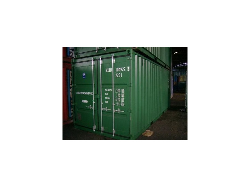 SHIPPING CONTAINERS 20ft ISO green 19184 click to zoom image
