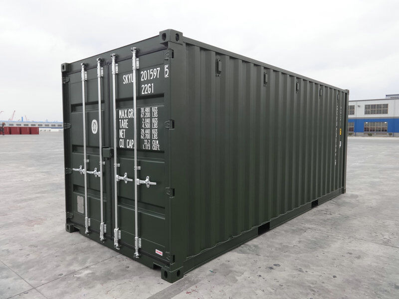 SHIPPING CONTAINERS 20ft ISO green 19185 click to zoom image