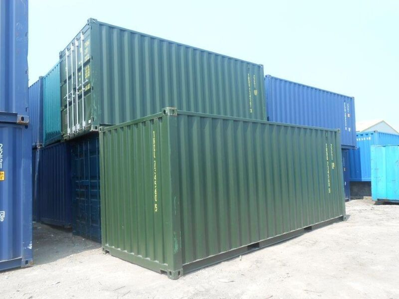 SHIPPING CONTAINERS 20ft ISO green 19186 click to zoom image