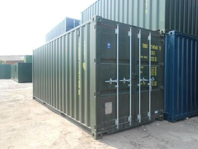SHIPPING CONTAINERS 20ft ISO green 19187
