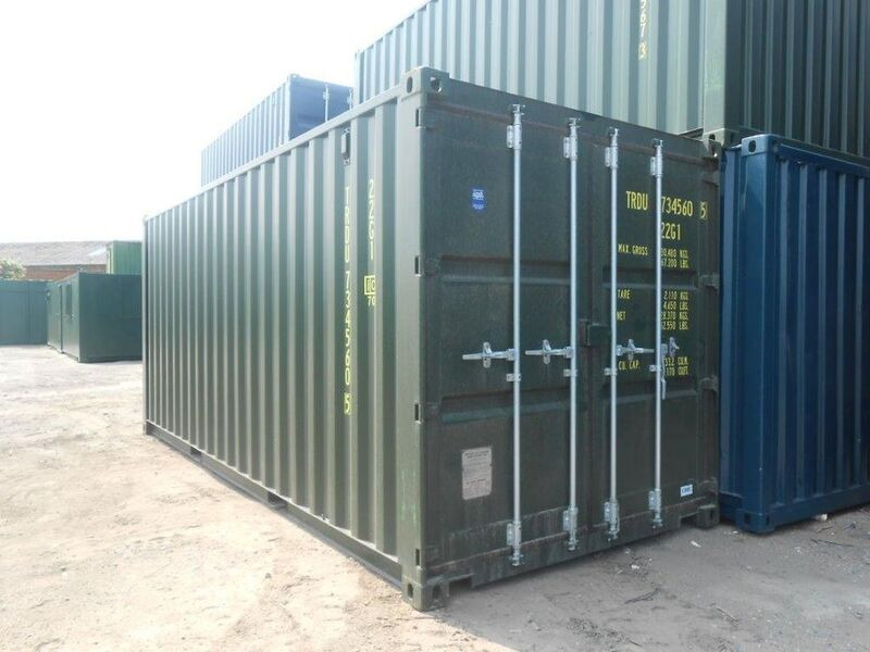 SHIPPING CONTAINERS 20ft ISO green 19187 click to zoom image