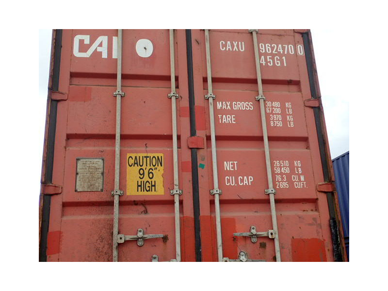 SHIPPING CONTAINERS 40ft high cube brown CAXU9624700 click to zoom image