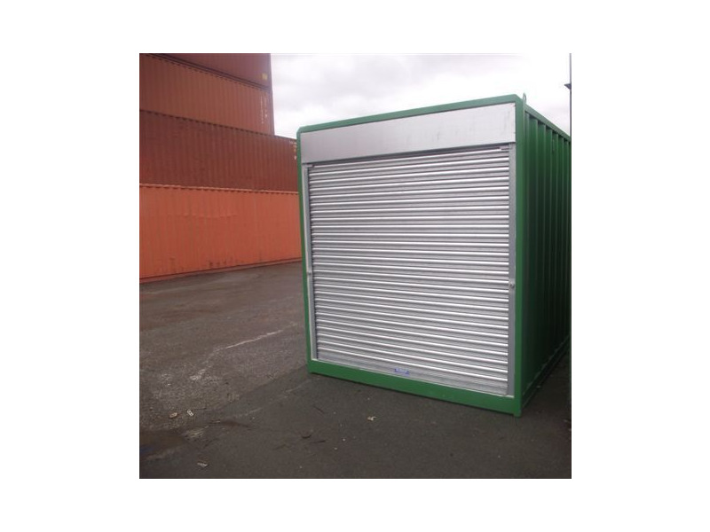 Shipping Container Conversions 20ft - roller shutter door click to zoom image