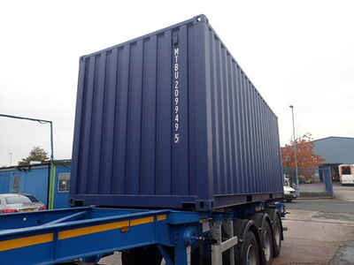 SHIPPING CONTAINERS 20ft ISO blue MTBU2099495 click to zoom image