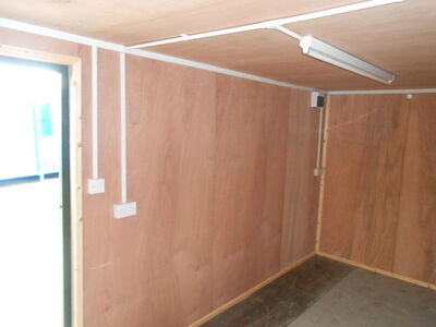SHIPPING CONTAINERS 15ft side doors, ply lined and electrics click to zoom image