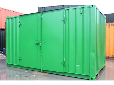 SHIPPING CONTAINERS 15ft side doors, ply lined and electrics