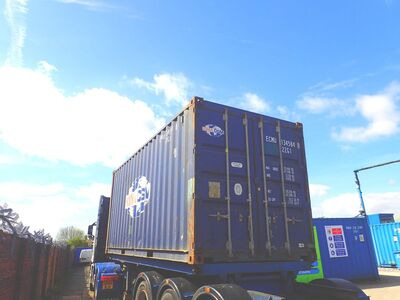 SHIPPING CONTAINERS 20ft ISO blue ECMU1345848