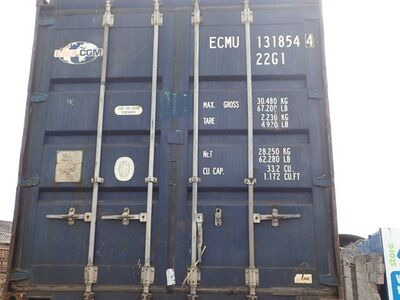 SHIPPING CONTAINERS 20ft ISO blue EMCU1318544