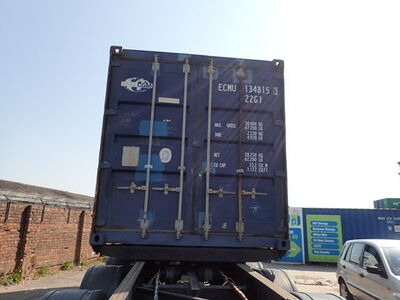 SHIPPING CONTAINERS 20ft ISO blue ECMU1348153