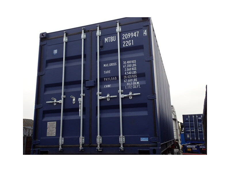 SHIPPING CONTAINERS 20ft ISO blue MTBU2099474 click to zoom image