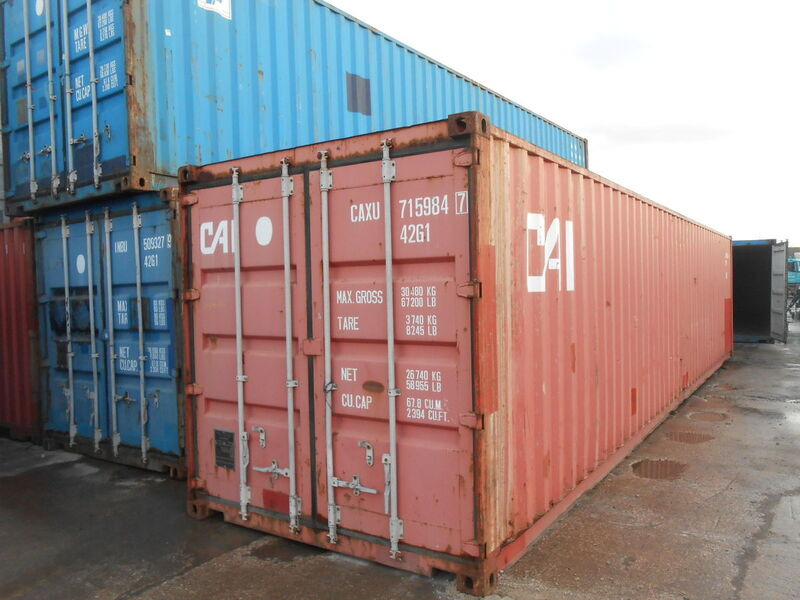 SHIPPING CONTAINERS 40ft original container 26145 click to zoom image
