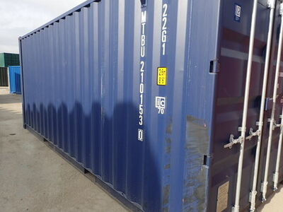 SHIPPING CONTAINERS 20ft blue MTBU2101530 click to zoom image
