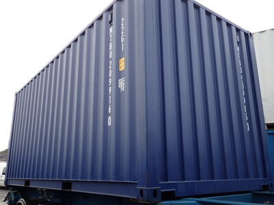 SHIPPING CONTAINERS 20ft ISO blue MTBU2099160 click to zoom image