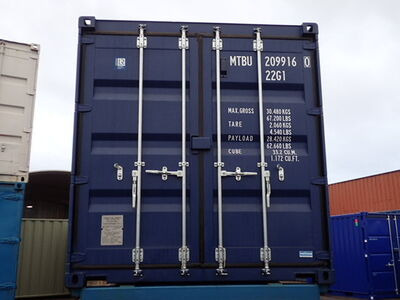 SHIPPING CONTAINERS 20ft ISO blue MTBU2099160