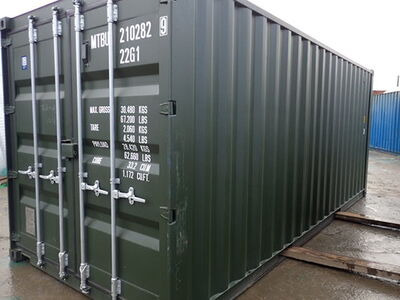 SHIPPING CONTAINERS 20ft ISO green MTBU2102829 click to zoom image