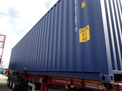 SHIPPING CONTAINERS 40ft ISO blue MTBU0410611 click to zoom image