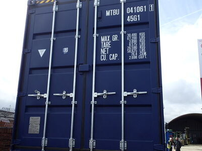 SHIPPING CONTAINERS 40ft ISO blue MTBU0410611