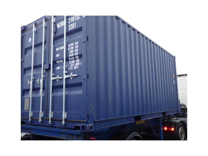 SHIPPING CONTAINERS 20ft ISO blue MTBU2101329 click to zoom image